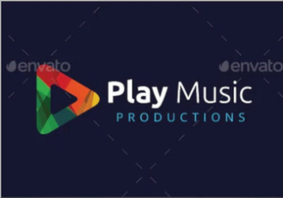 play music logo template