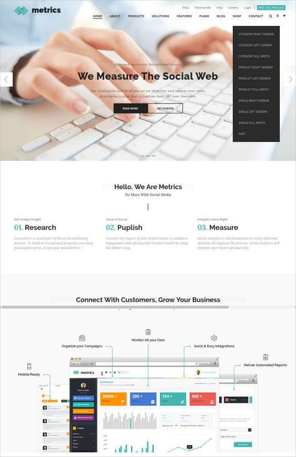 premium social media blog website template11