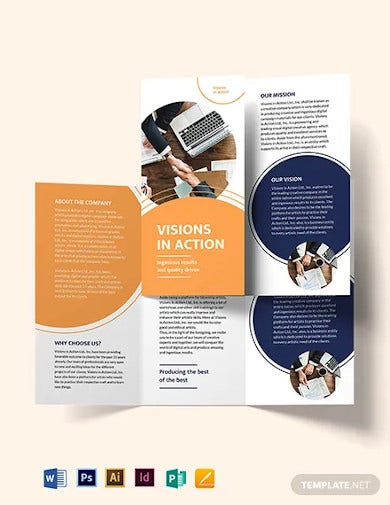 proposal tri fold brochure template