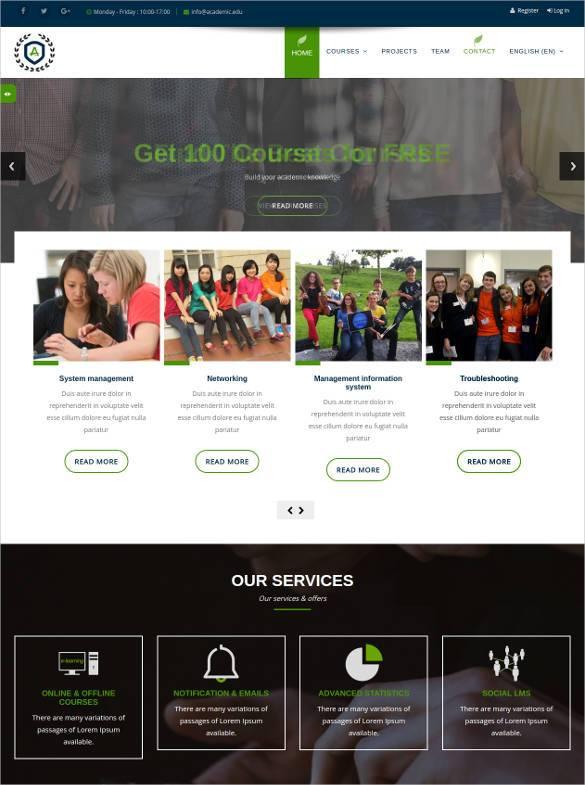 responsive moodle social media website theme11