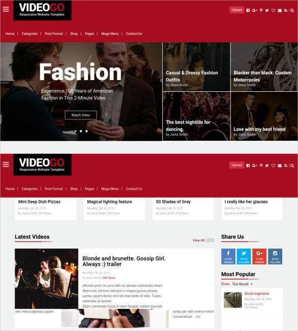 31+ Responsive Video Website Themes & Templates | Free & Premium ...