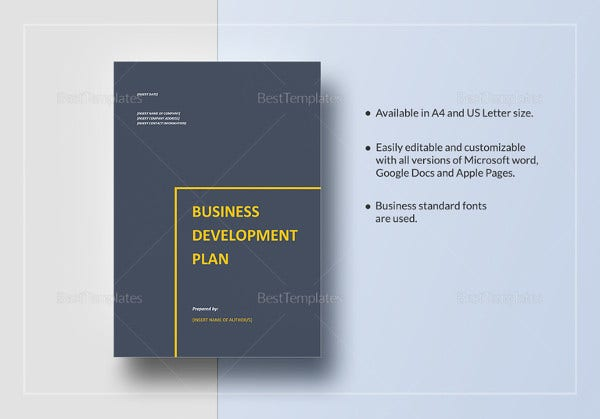 Business plan templates 43 examples in word free premium sample business development plan wajeb Image collections