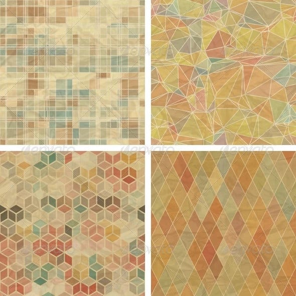 seamless abstract geometric patterns