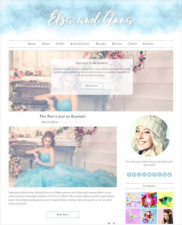 simple responsive wordpress social media website t