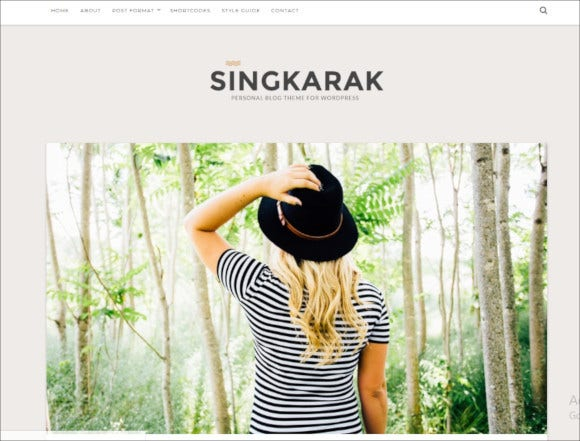singkarak responsive wordpress blog theme