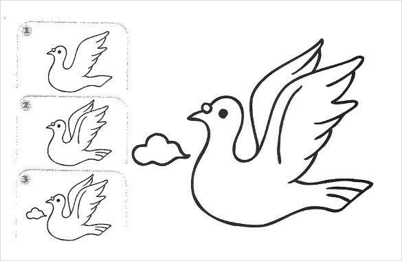 sparrow easy drawing template1