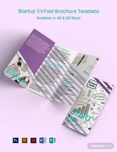 startup tri fold brochure template