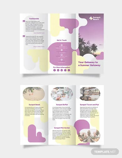 summer tri fold brochure template
