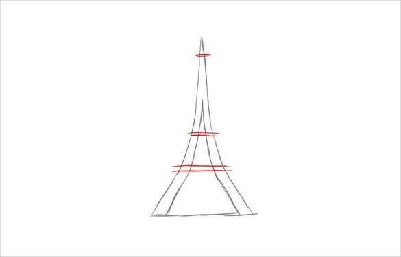 tower easy drawing template2