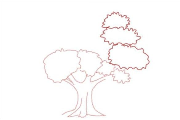 tree easy drawing template2
