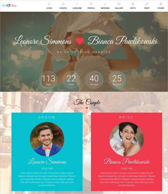 wedding event planning html website theme11