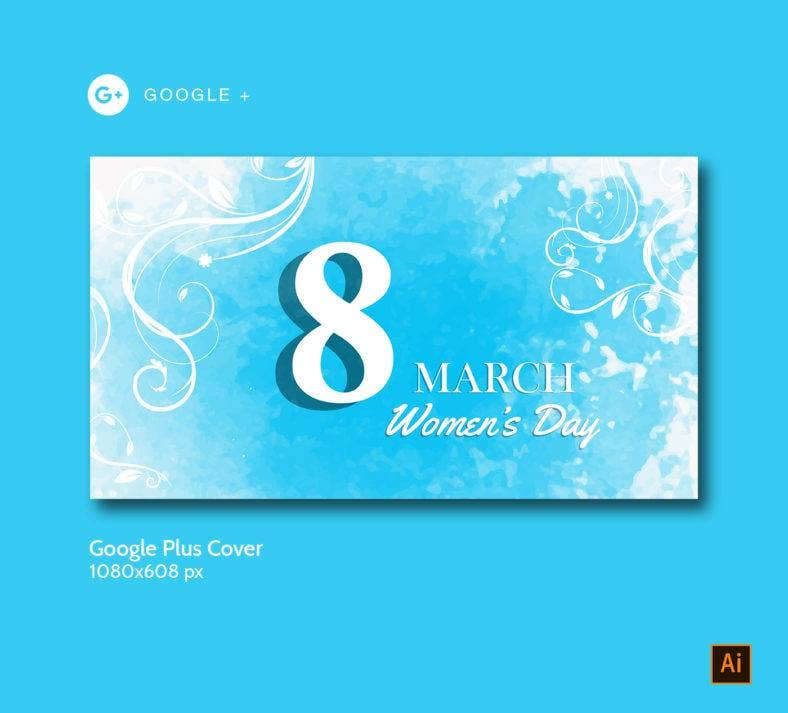 Women's Day Google Plus Template