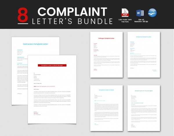 8 Great Complaint Letter Templates Bundle