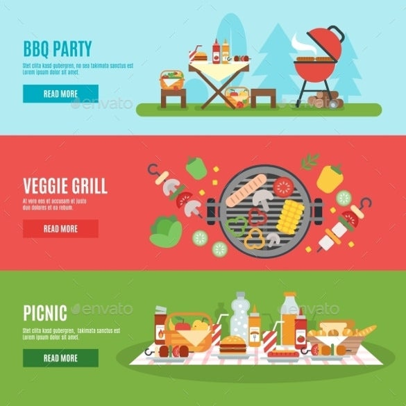 bbq party sample banner template