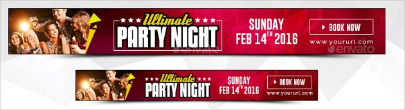 animated party sample banner template