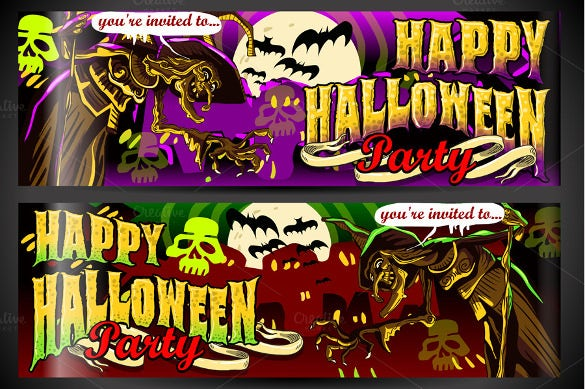 halloween party sample banner template