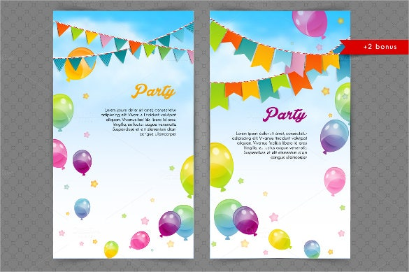 ballons party sample banner template