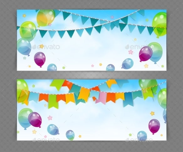 surprise sample party banner template