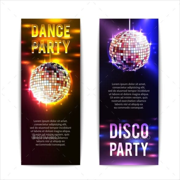 disco sample party banner template