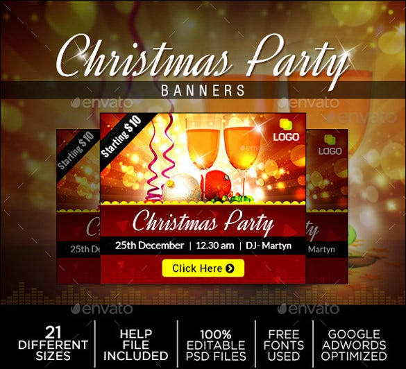 christmas sample party banner template