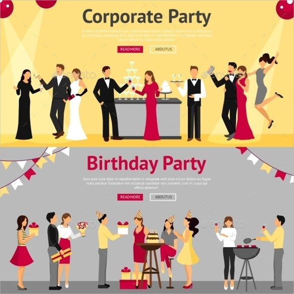 corporate sample party banner template