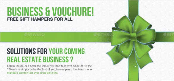 corporate business gift voucher example template