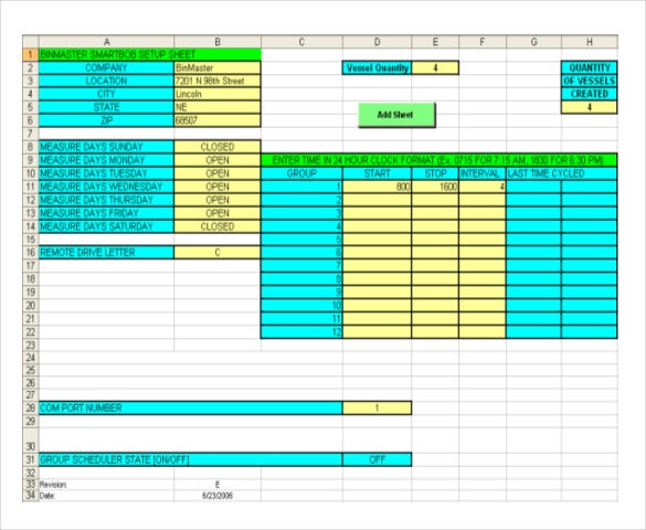 inventory tracking software operations example worksheet