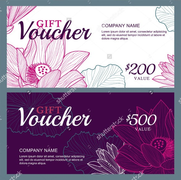vector business gift voucher sample template