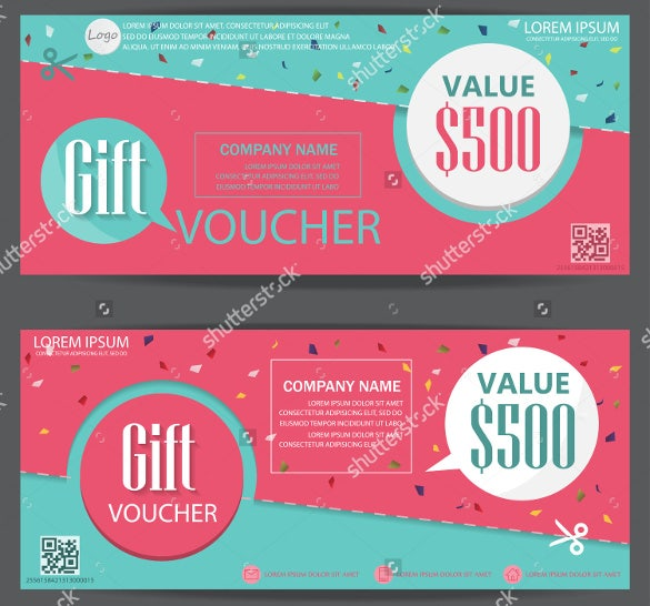 sample business voucher certificate vector illustration