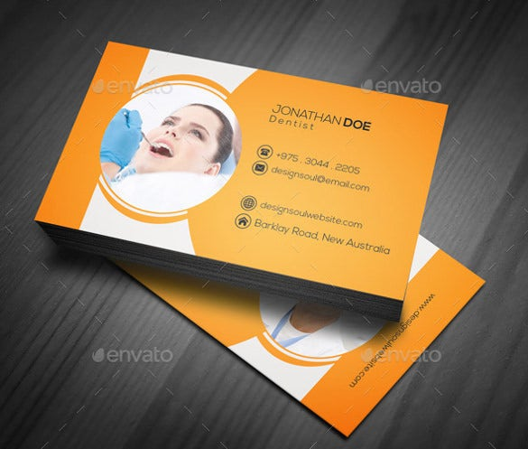 Dentist Dental Clinic Business Card Template Free PSD - Business card templates psd free download