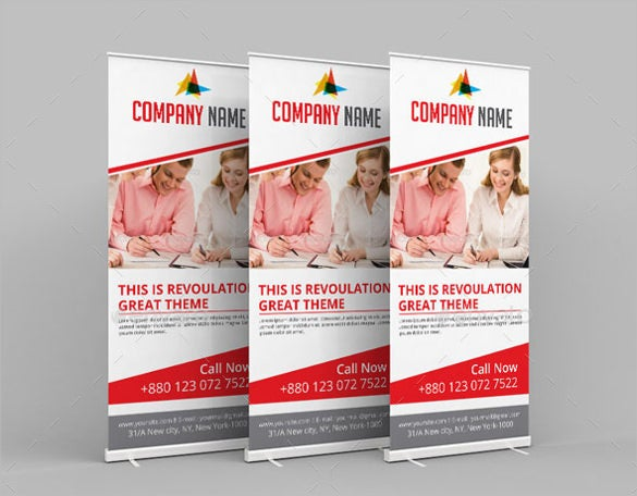 simple rollup sample banner template