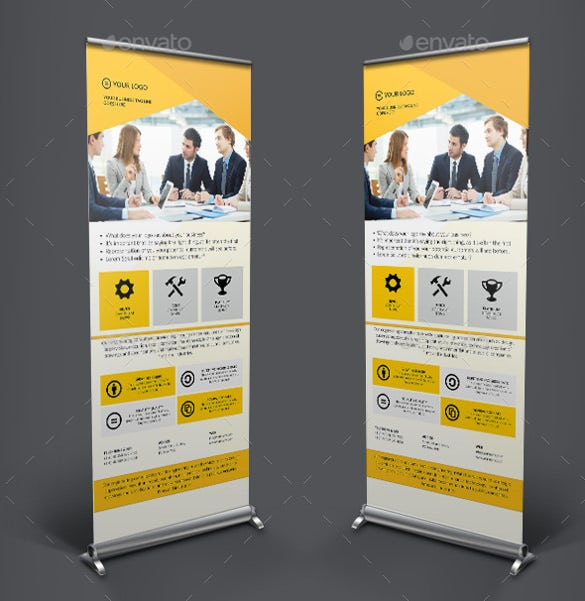 insurance rollup sample banner template