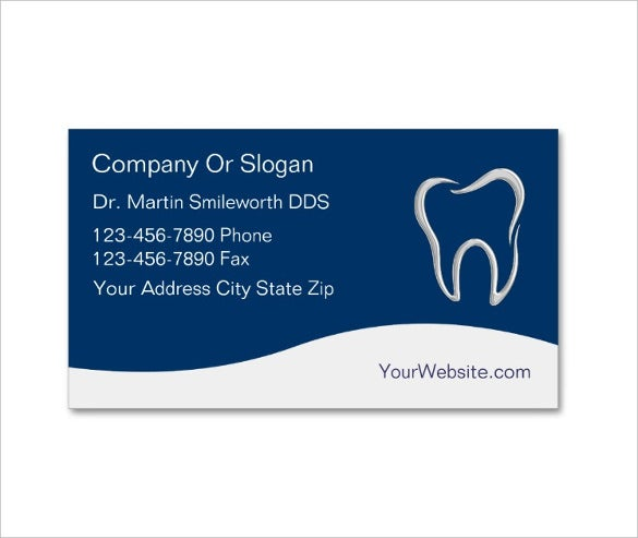 modern dentist business cards