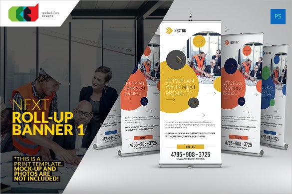 colorful rollup sample banner template