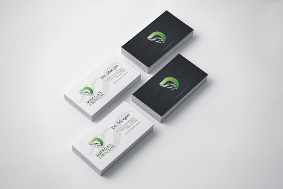 Dentist dental clinic business card template 40 free psd format abstract dental business card template accmission