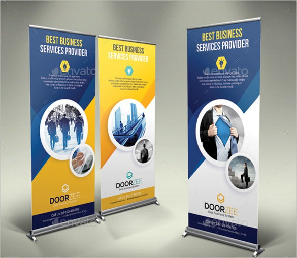 designed rollup sample banner template