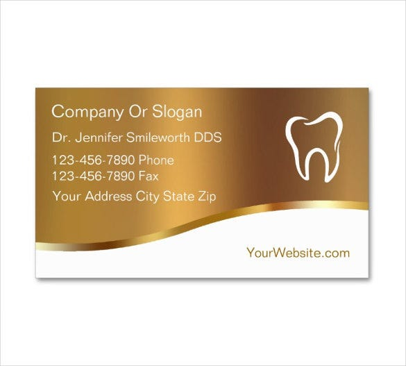editable dentist business cards