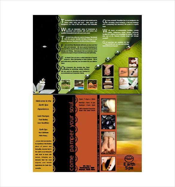 massage brochure gift voucher free pdf format download