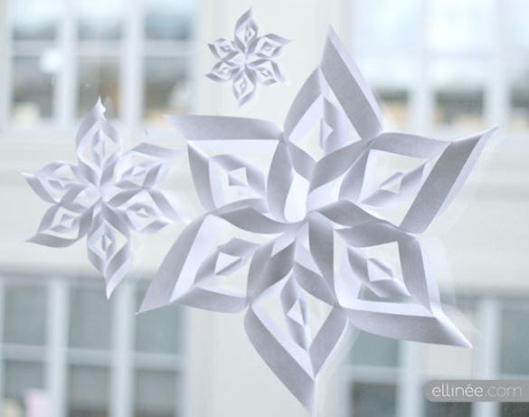 freebie 3d paper snowflake printable download