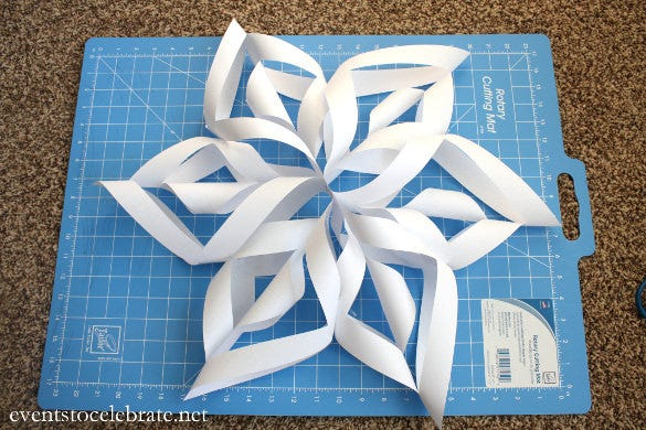 template 3d paper snowflake patterns  5+ Awesome 5D Paper Snowflake Ideas | Free & Premium Templates