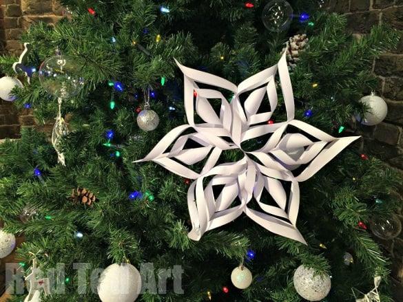 easy 3d paper snowflake design idea