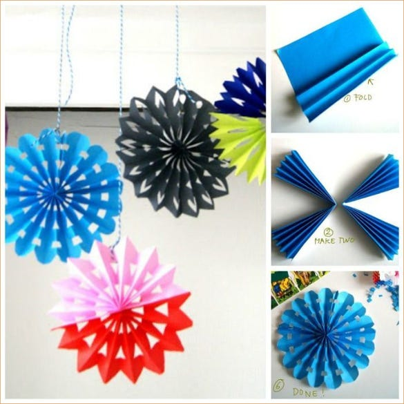 creative ideas diy easy folded 3d paper snowflake ornaments