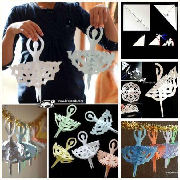 diy adorable 3d snowflake ballerina creative ideas