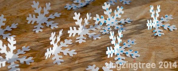 free printable bent 3d snowflake idea