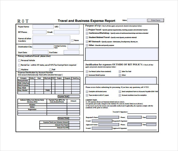11 Expense Sheet Templates Free Sample Example Format