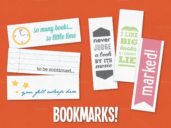 coolection of bookmark design templates download