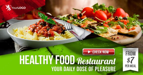 restaurant come facebook banner