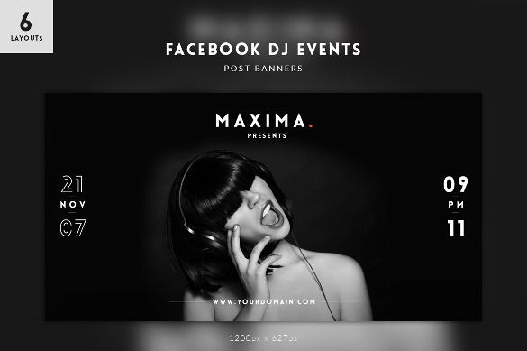 dj event facebook banner