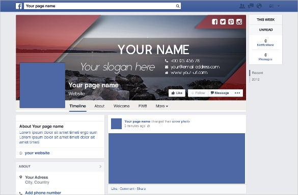 25+ Facebook Banner Templates – Free Sample, Example, Format