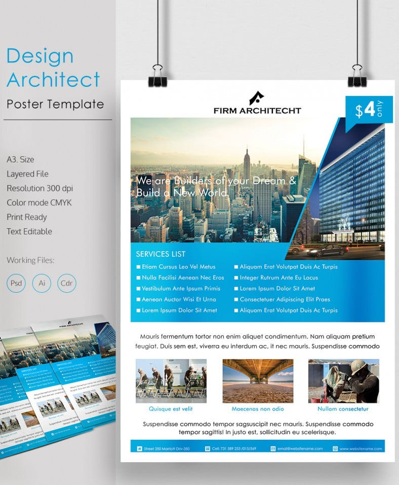 79 poster templates free psd ai vector eps format for Architect online free